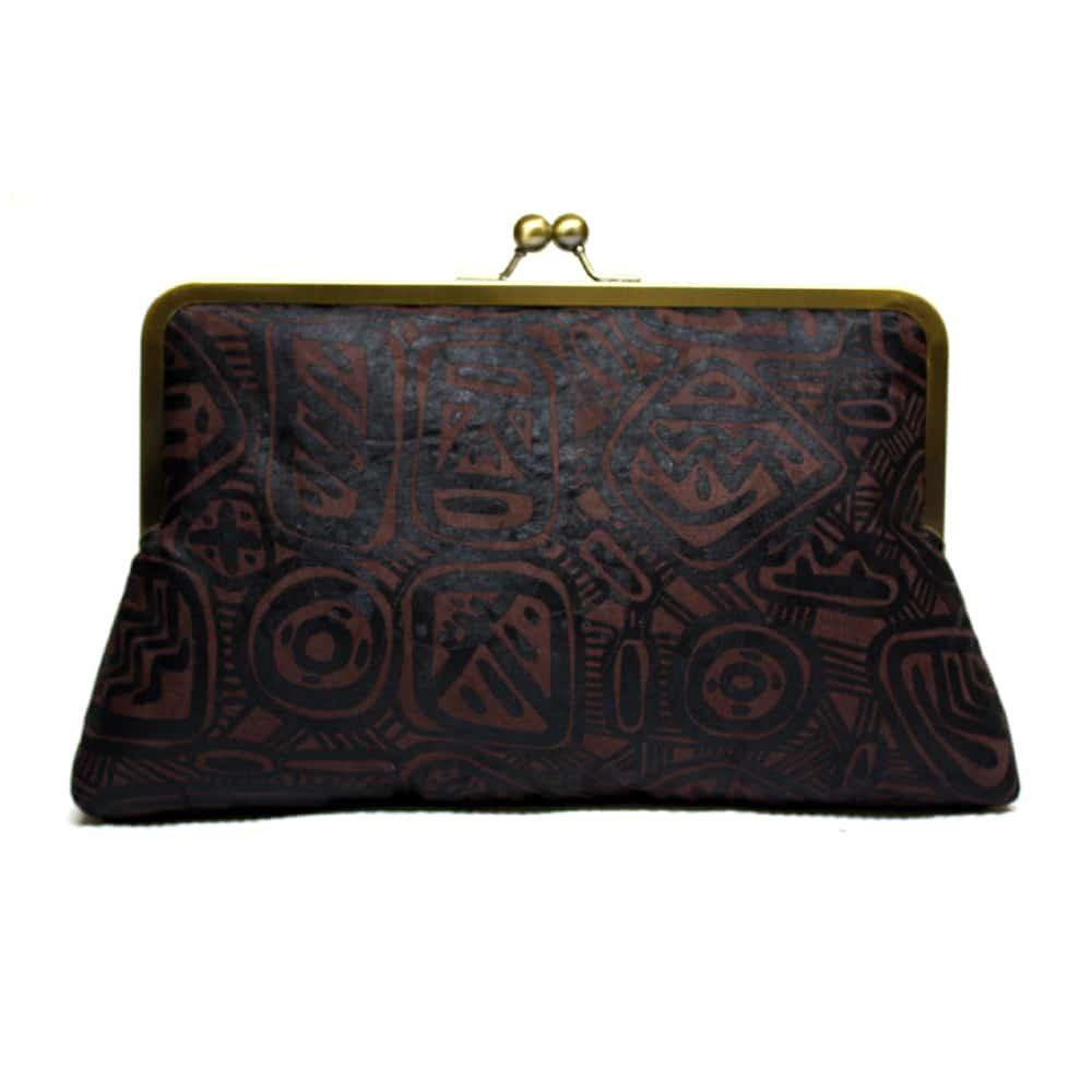 African Batik purse