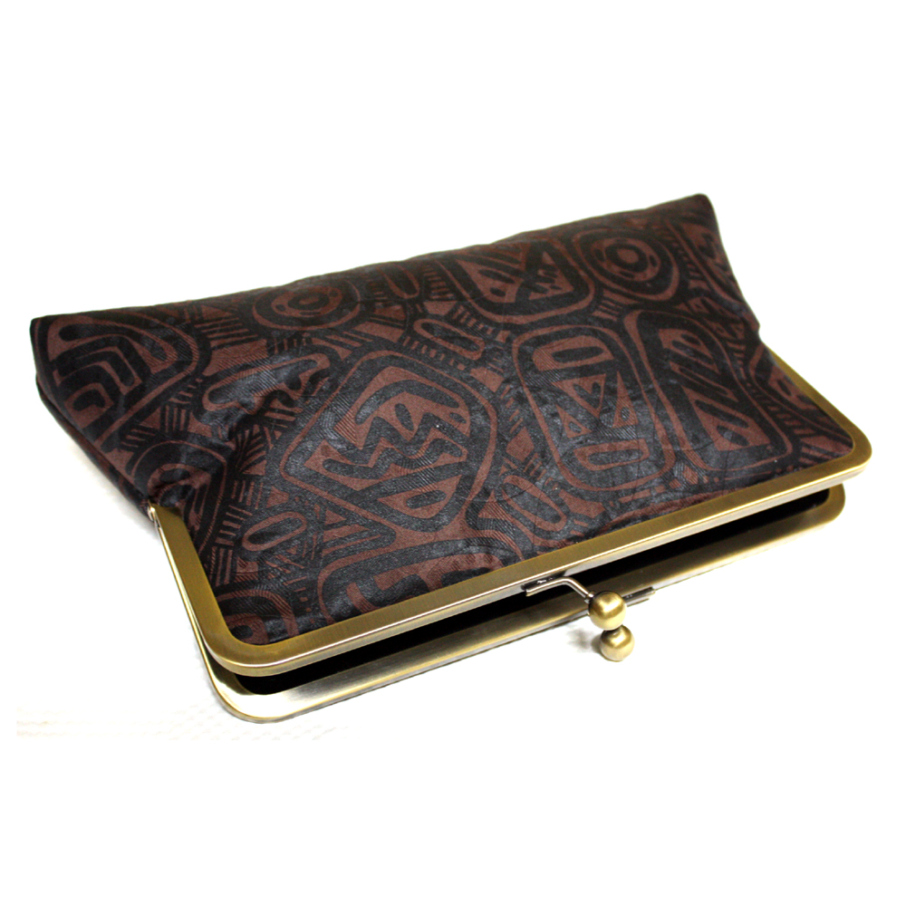 African Batik clutch