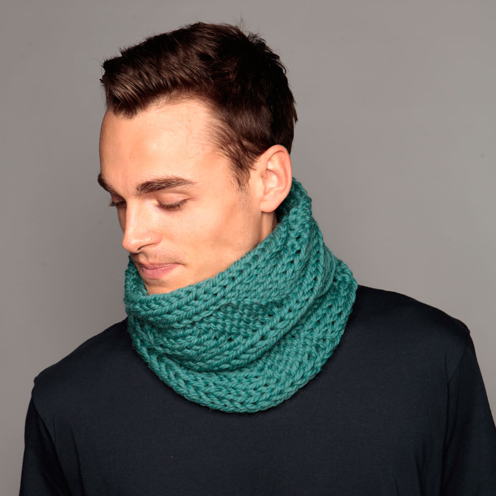 Dark teal snood