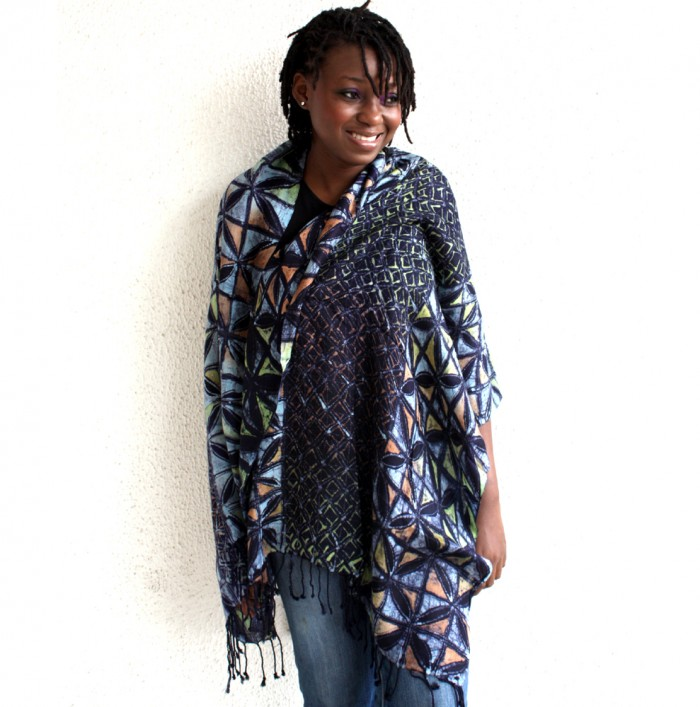 African Violet Splash Shawl