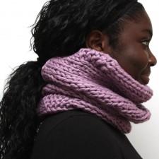 Lilac Wool Cowl