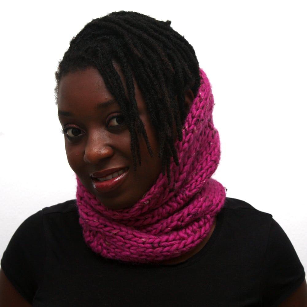 pink wool scarf
