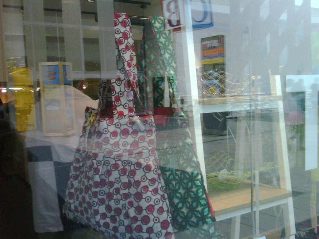 Bee bags in the window