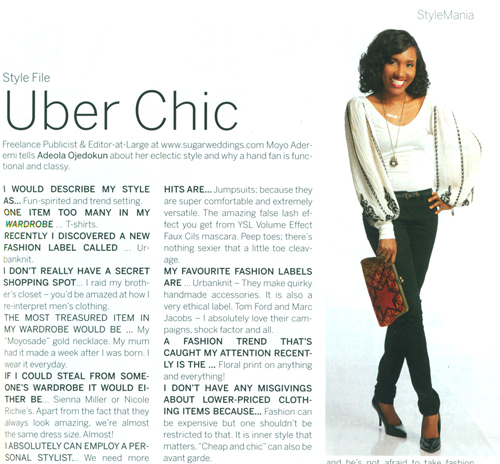 Spotted in Urbanknit- Moyo Aderemi
