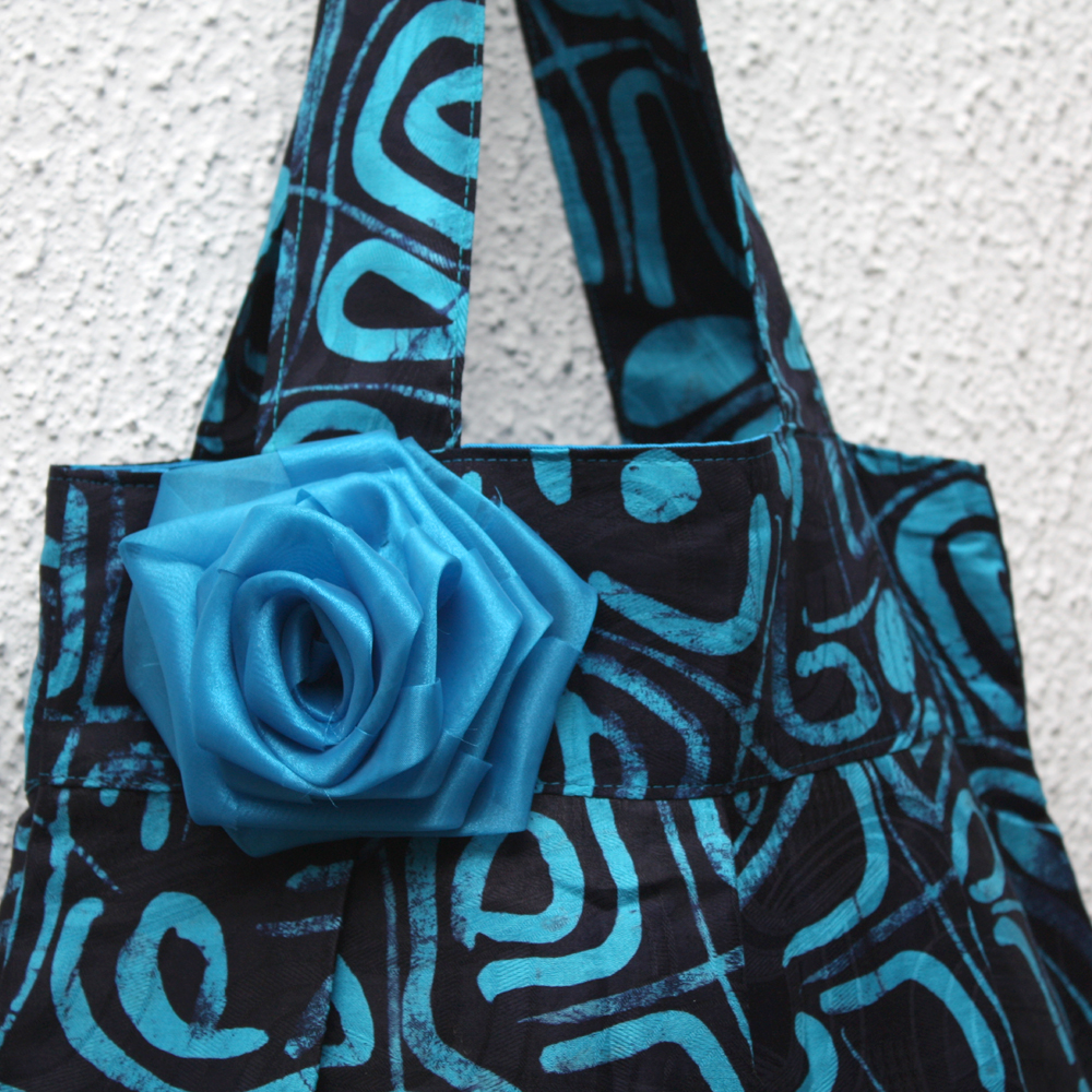 Black and Turquoise Bee Bag