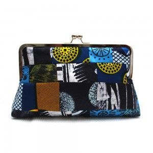 Blue Patchwork Clutch