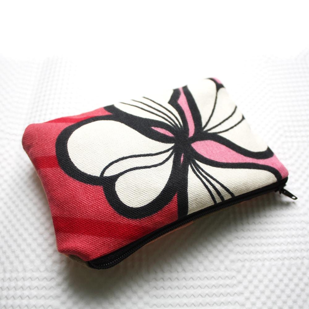 poppy print zipper