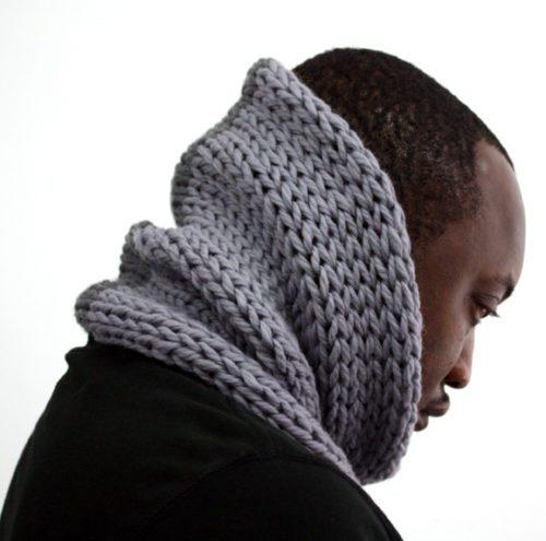 Grey Mix Wool Cowl
