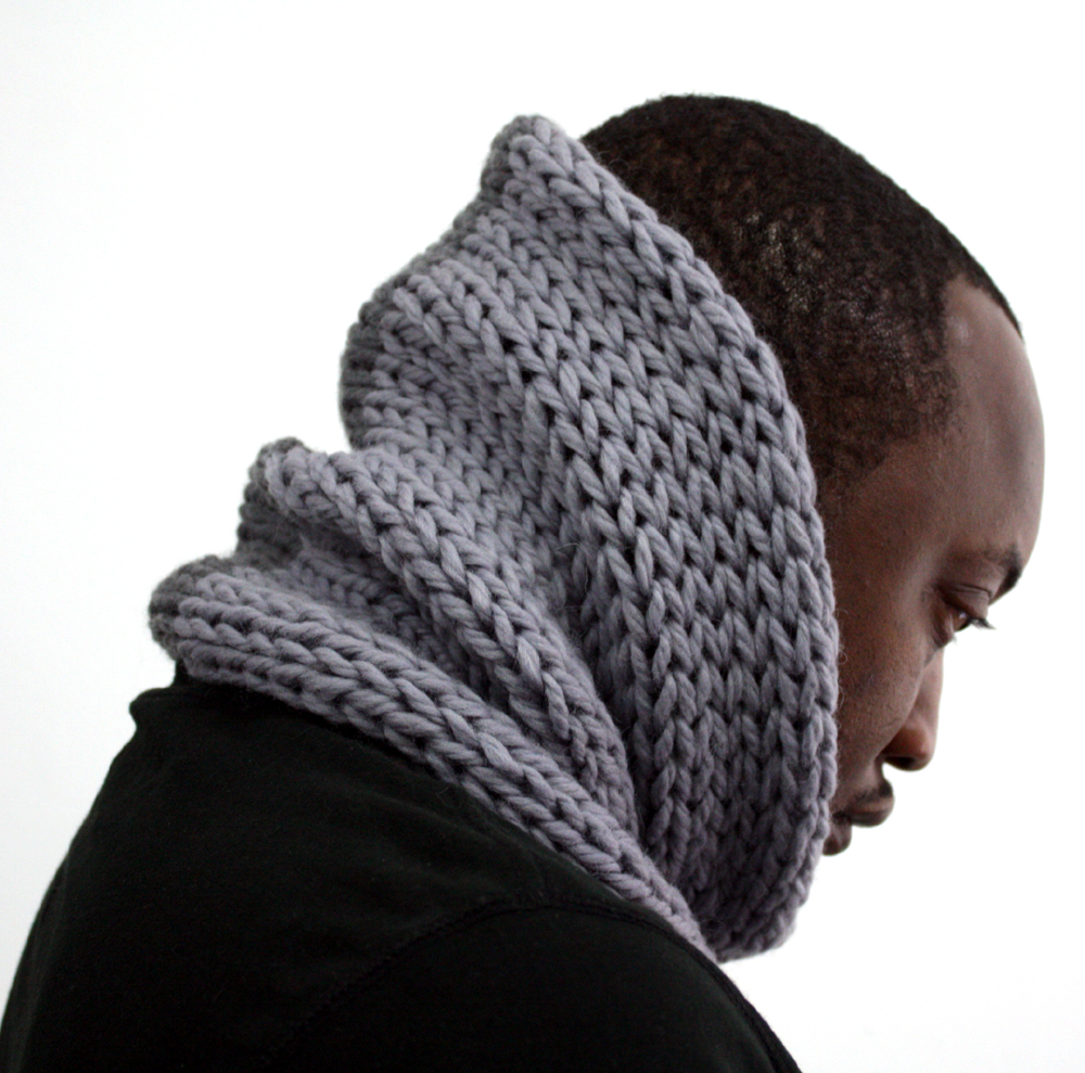 Grey Mix Wool Cowl