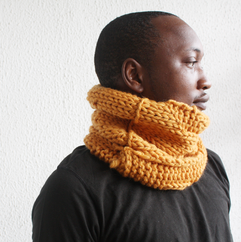 Pale Orange Merino Cowl