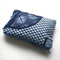 Blue Ankara Zipper Pouch