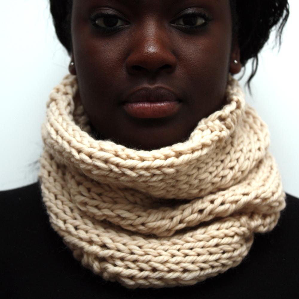 Cream Wool Cowl