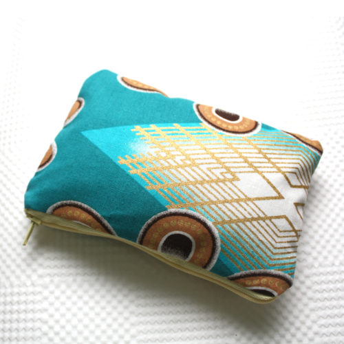 Teal Zipper Pouch