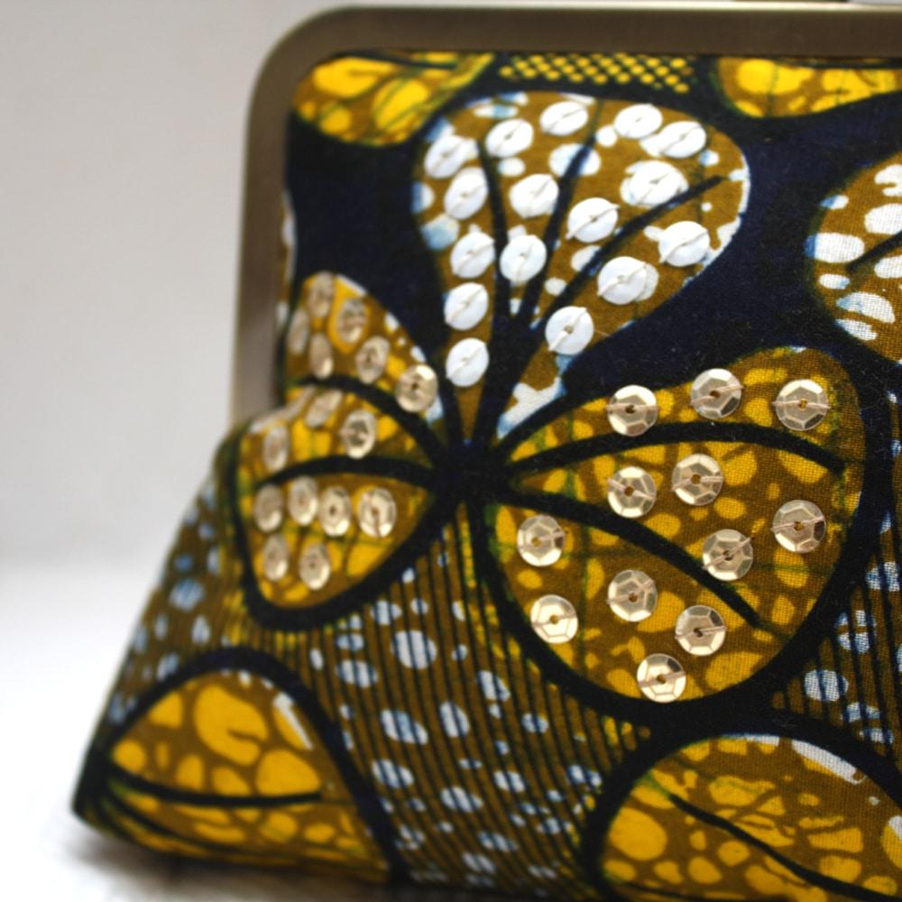 Yellow Petals Mini Snap Clutch