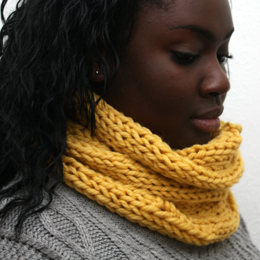 Mustard Yellow Cowl