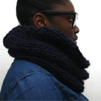 Midnight Blue Alpaca Cowl