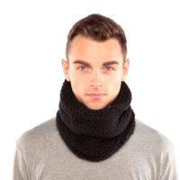 Black Chunky Knit Cowl