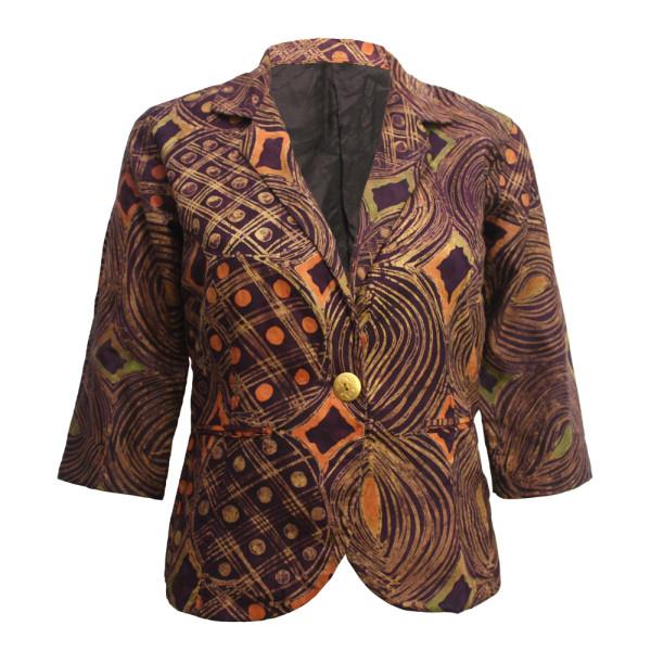 Brown Batik Blazer- Front