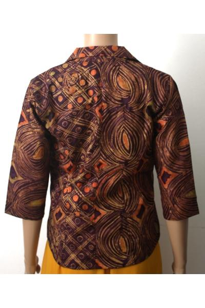 Brown Batik Blazer