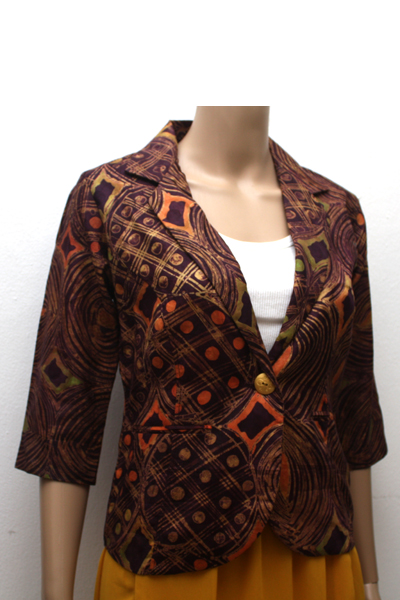 Brown Batik Blazer