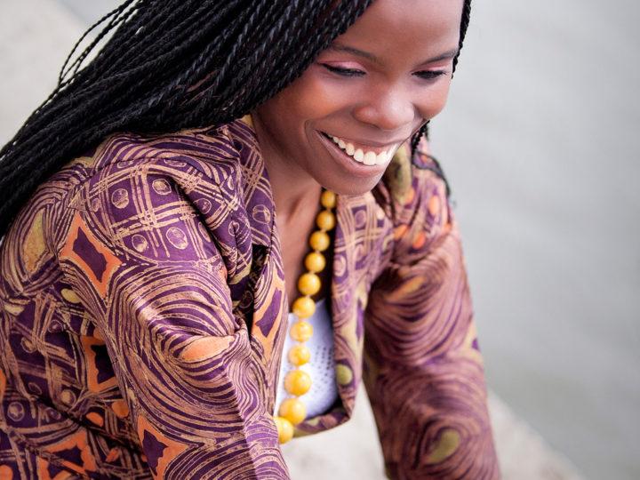 Funky Brown African Batik Blazer