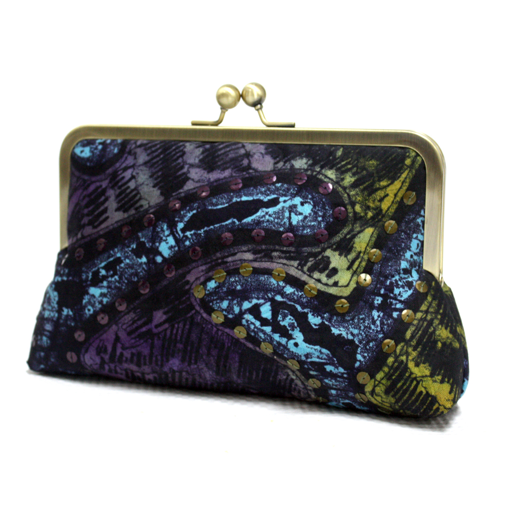 Purple Thames Mini Snap Clutch