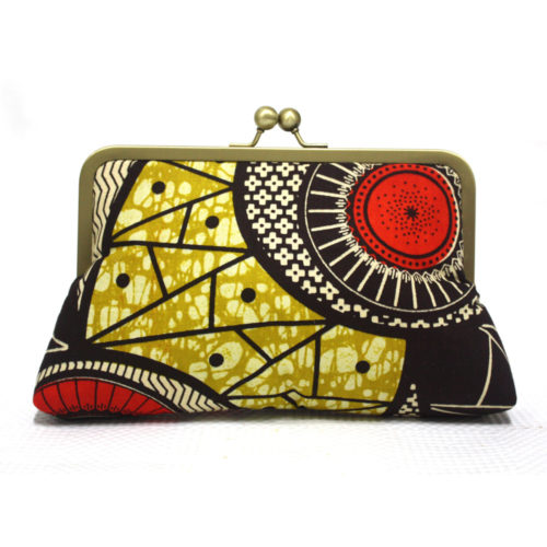 Tropic Swim African Print Clutch