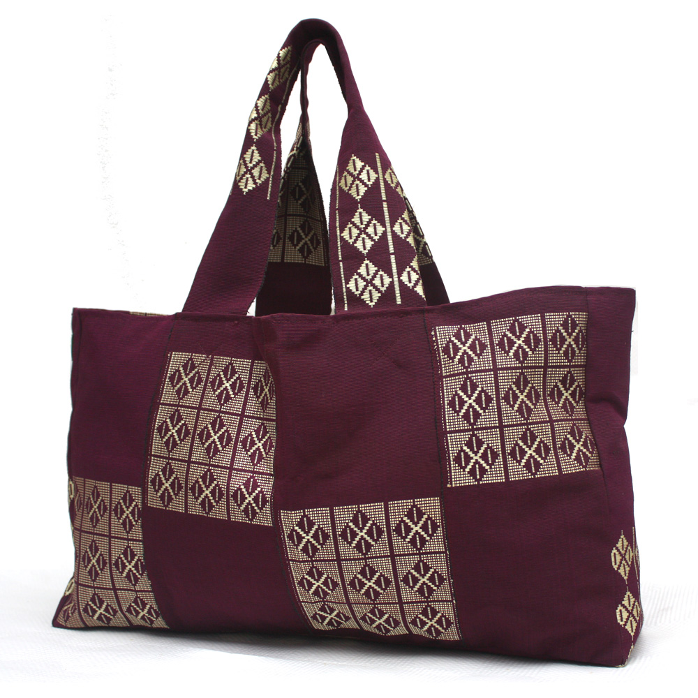 Wine and Gold Tommy Tote