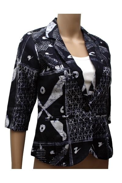 Indigo Batik Blazer