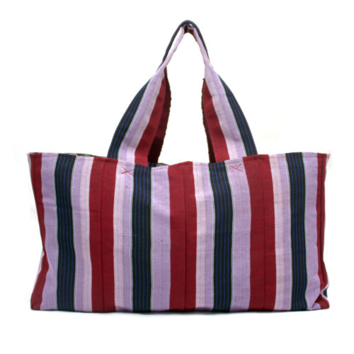 Berry Stripe Tommy Tote