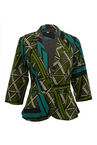 Green Ankara Blazer