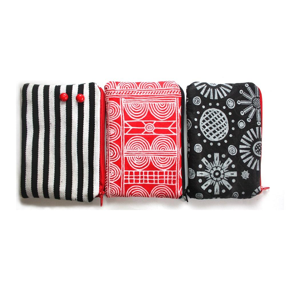 Zebra Red Zipper Pouch Set