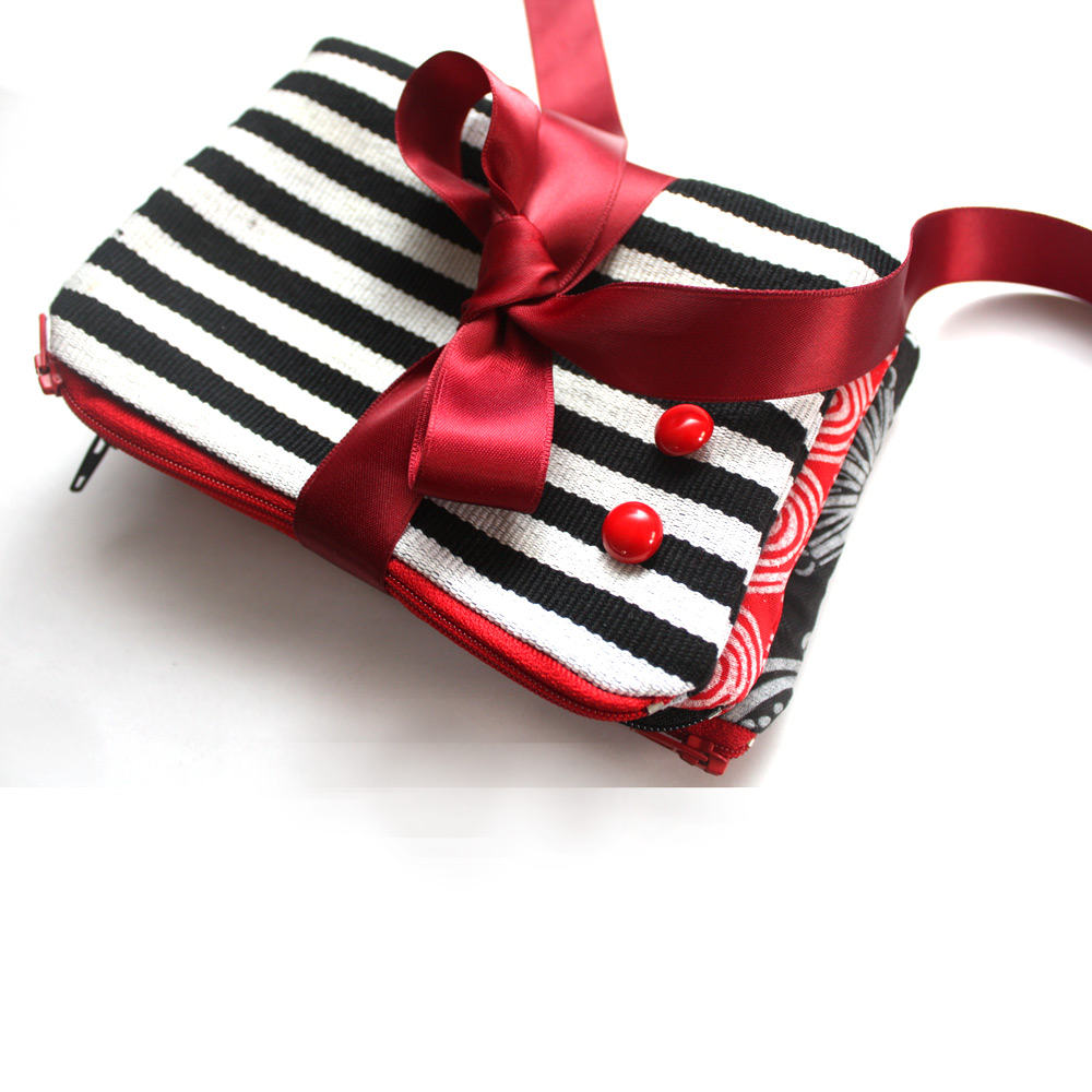 Zebra Zipper Pouch Set
