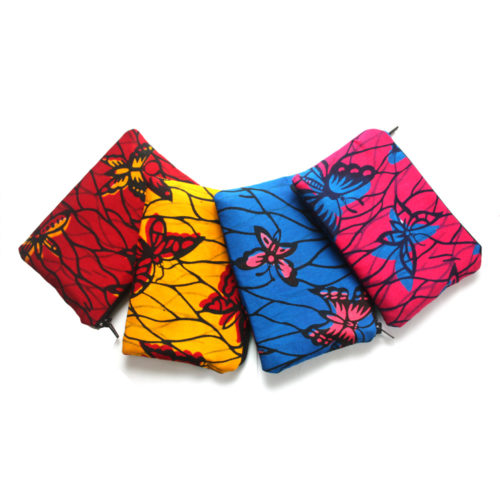 African Butterfly print Zipper set