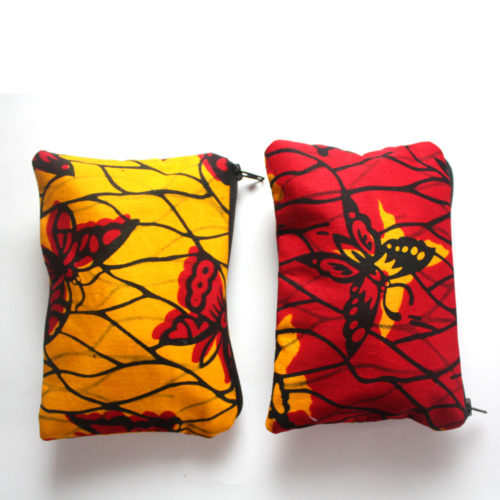Red and Yellow Butterfly Zipper