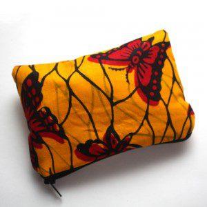 Yellow Butterfly print zipper