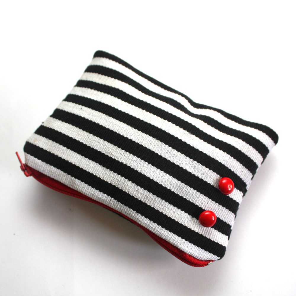 Red Zebra Zipper Pouch Set