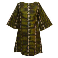 Green Print Tunic Dress