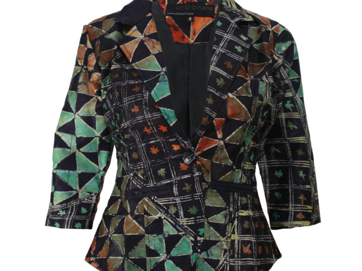 Just In: Indigo Citrus Batik Blazer
