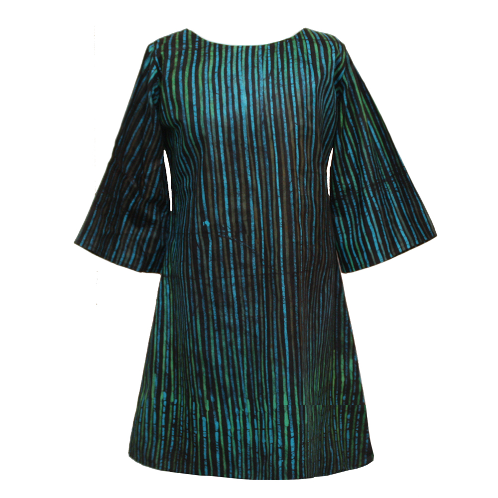 Turquoise and Green Batik Tunic