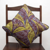 Aubergine Lime African Cushion