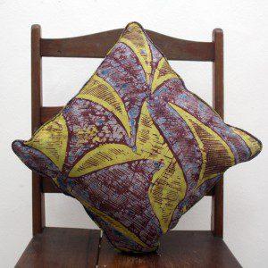 Aubergine Lime African Cushion