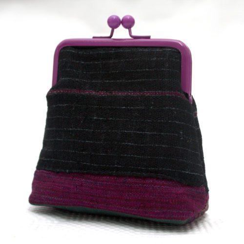Black Aso Oke Pico Pouch