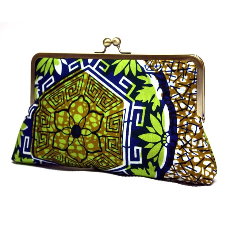 afro aztec print clutch