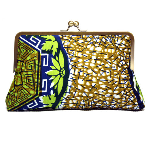 afro aztec super snap ankara clutch