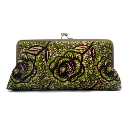 Chocolate Rose Ankara Clutch