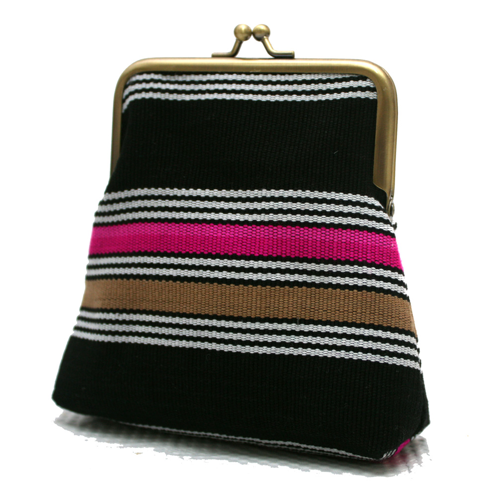 Pink and black pico pouch