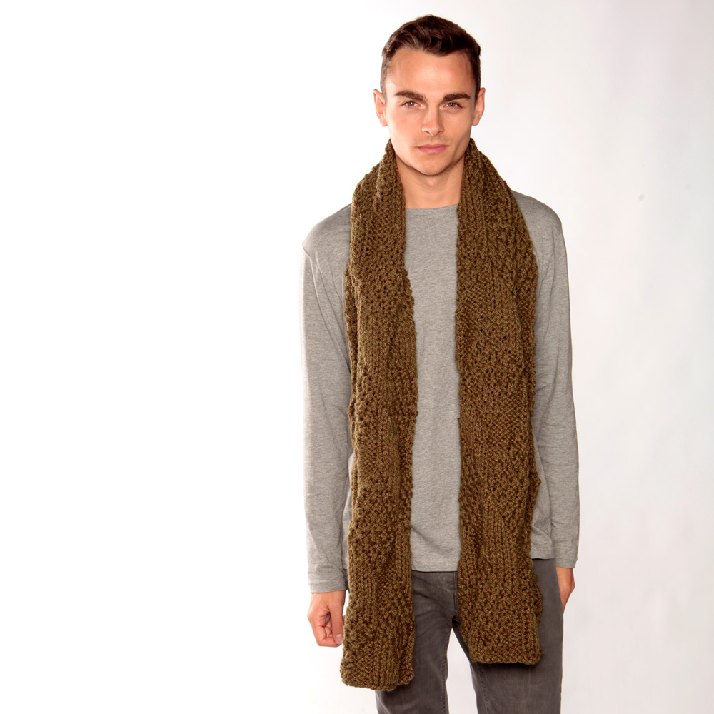 Long Army Green Scarf