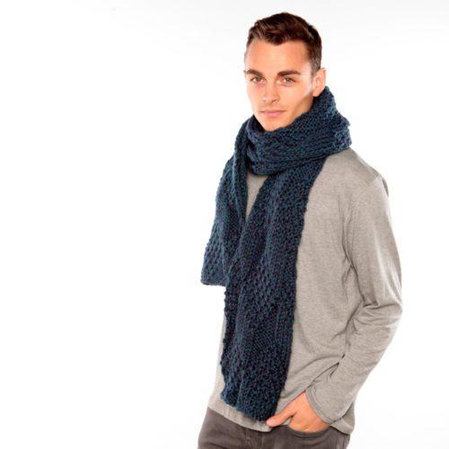 Blue Green Knit Scarf