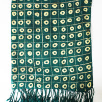Yellow Circles Adire Shawl